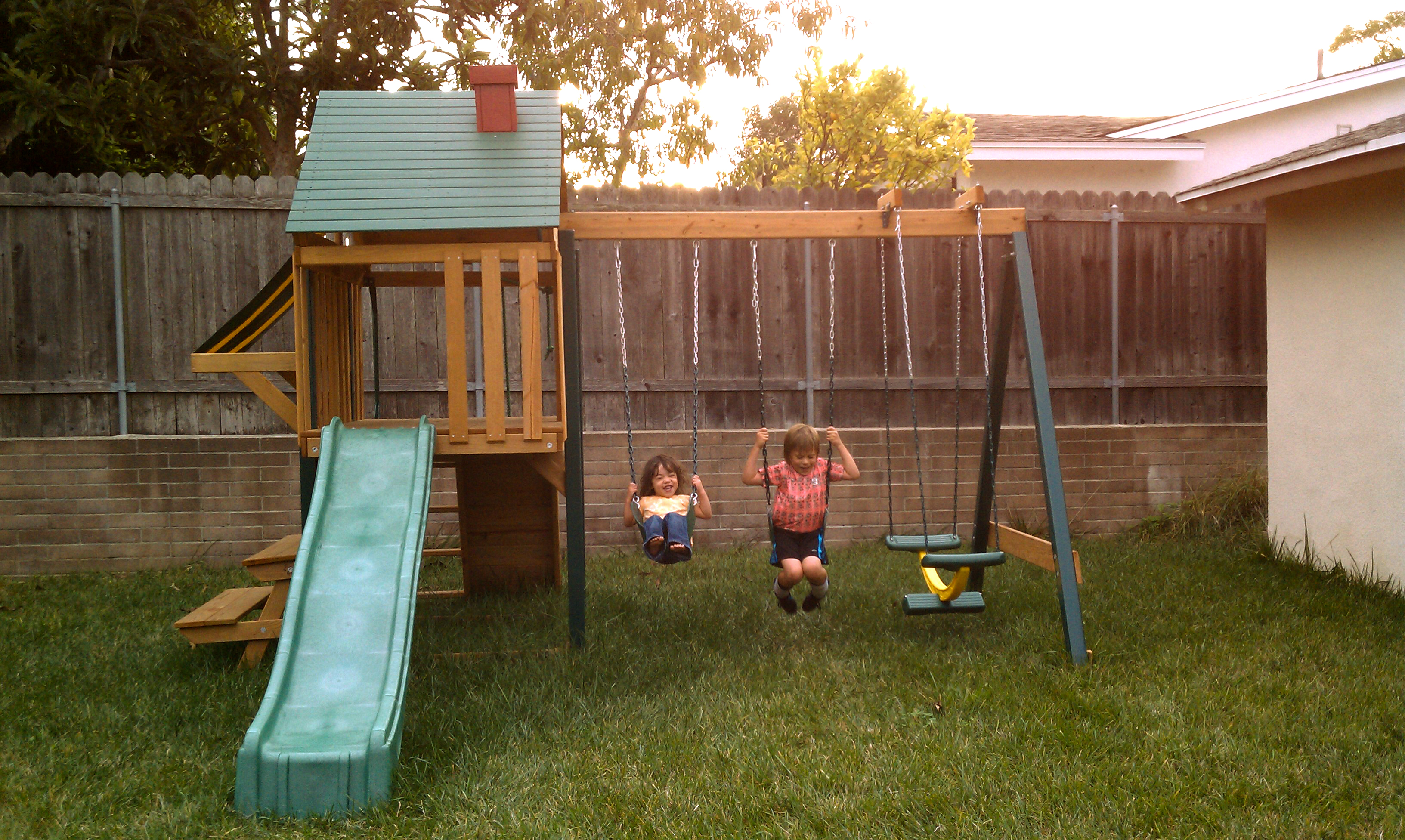 Backyard Playground Diy : It?s over It?s done We?re happy with the results Let?s just