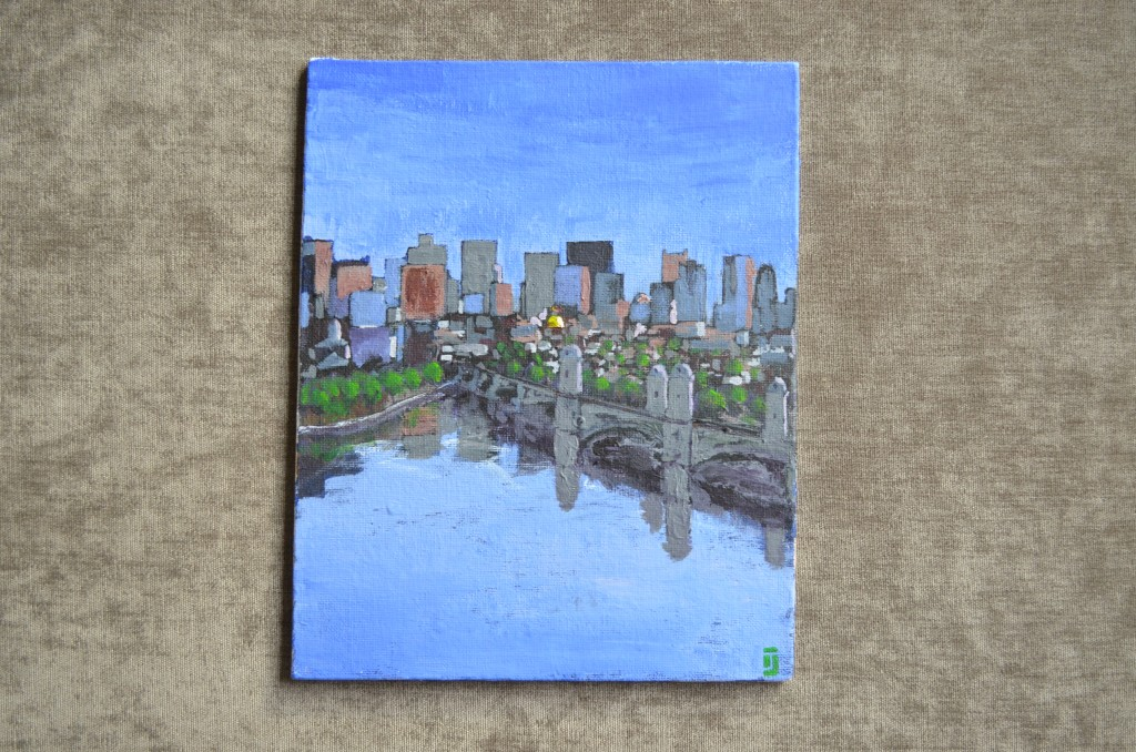 Boston Skyline | Painted by Jared