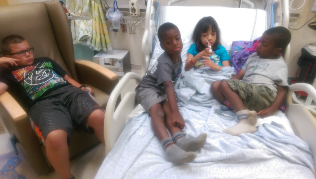 Maddie & brothers in the ICU